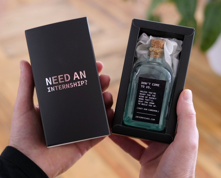 Tears to Fear: McMillan Agency Sends Bottled Tears to Prospective Interns