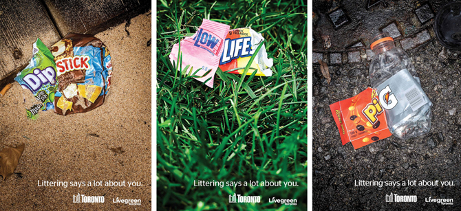 City of Toronto littering campaign