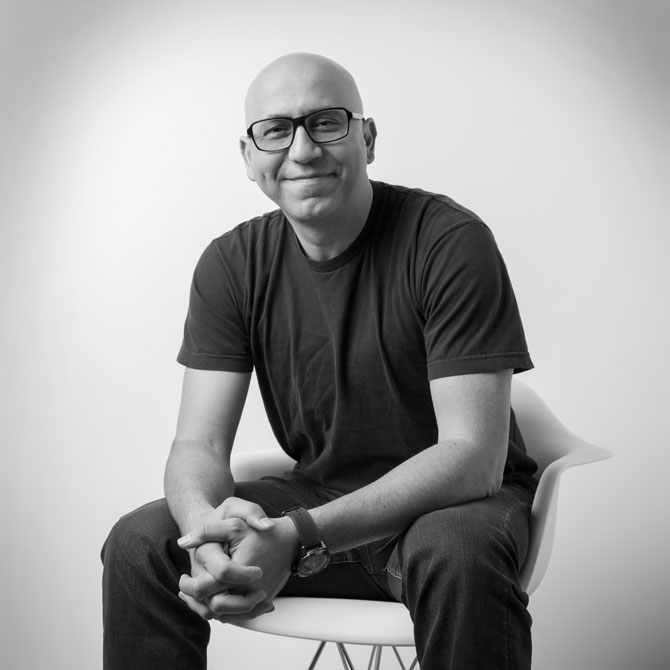 Portrait of Zulu Alpha Kilo founder and CCO Zak Mroueh. Photo by Dan Bannister