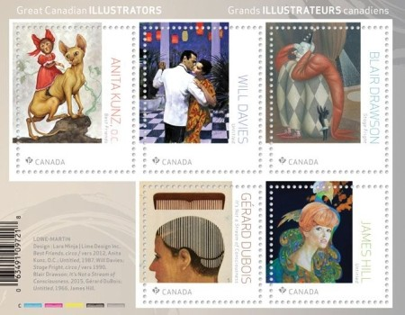 New Stamp Set Features Great Canadian Illustrators